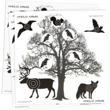 Anglo Arms Tree AIR GUN TARGETS Pack of 50 Card Targets 14cm