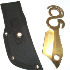 6.5 inch Fixed Blade 3CR13 Steel knife and Mult-tool with Nylon Sheath WARTECH Gold (HWT-206-GD)