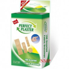 100 ASSORTED FABRIC DRESSINGS (PERFECT PLASTER)